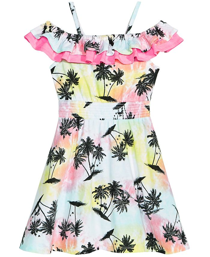 Epic Threads - Printed Double Ruffle Dress, Toddler Girls