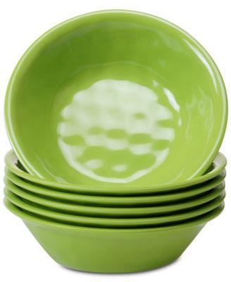 6-Pc. Green Melamine All-Purpose Bowl Set