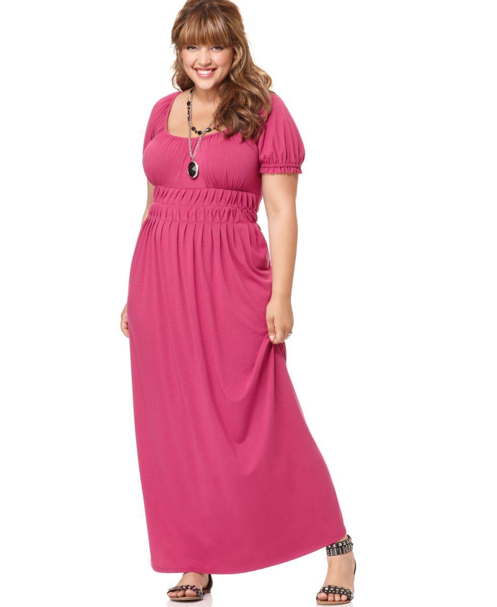 pink plus size maxi dresses