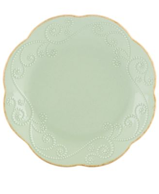 Lenox Dinnerware, Set of 4 French Perle Ice Blue Dessert Plates