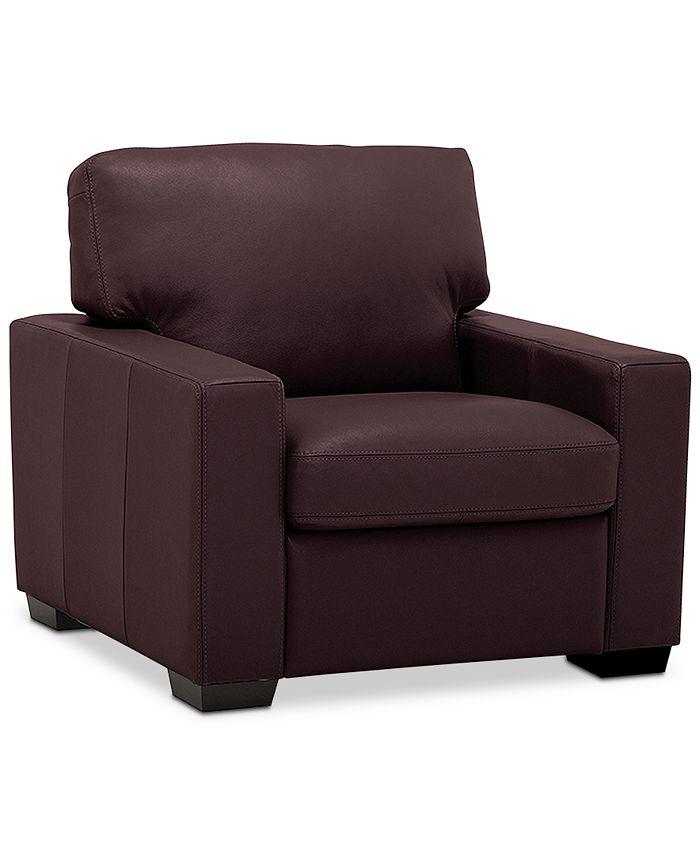 """Furniture - Ennia 36"""" Leather Armchair"""