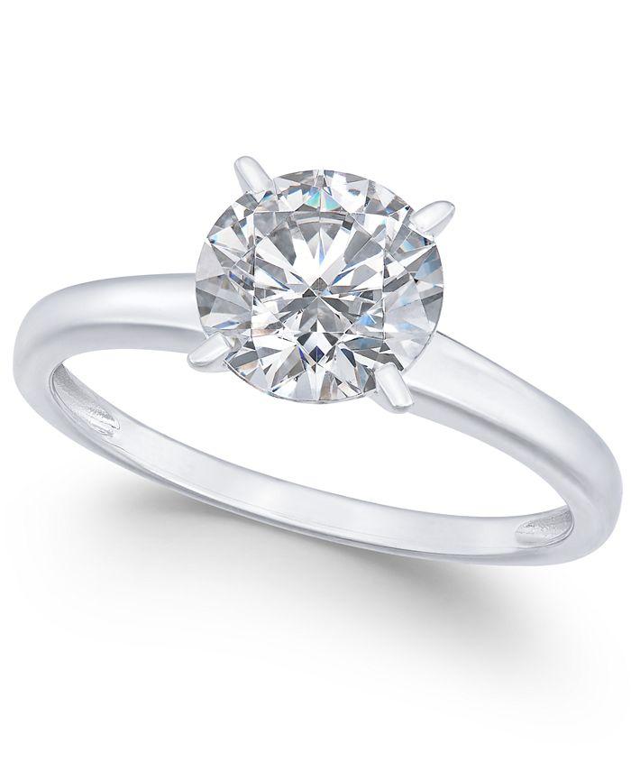 Swarovski Zirconia (3-1/3 ct. t.w.) Solitaire Engagement Ring in 14k White  Gold