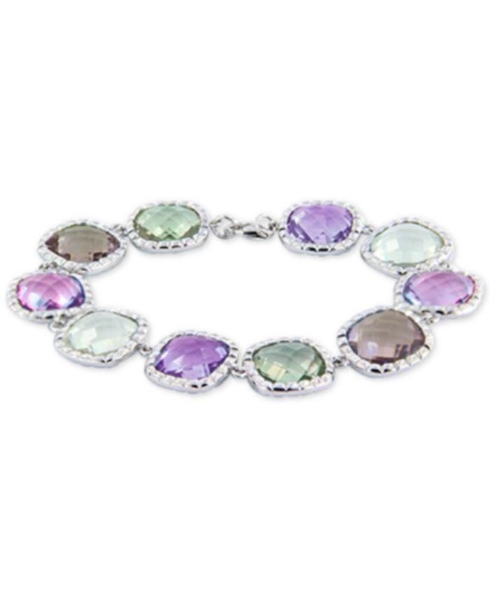 Macy's Multi-Gemstone Bracelet (60 ct. t.w.) in Sterling Silver & Reviews - Bracelets - Jewelry & Watches - Macy's