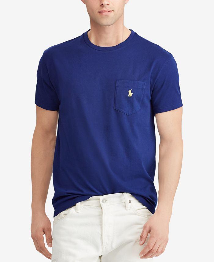 Polo Ralph Lauren Men's Classic-Fit Pocket T-Shirt & Reviews - T ...