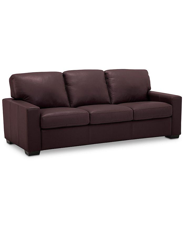 """Furniture - Ennia 82"""" Leather Sofa"""