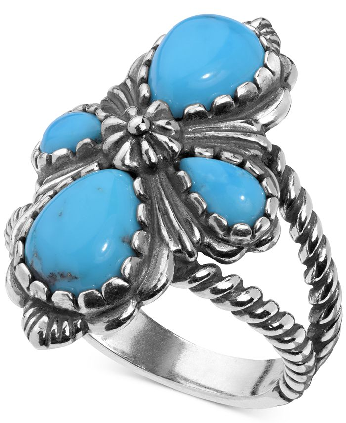 American West - Turquoise Cluster Ring (3-9/10 ct. t.w.) in Sterling Silver