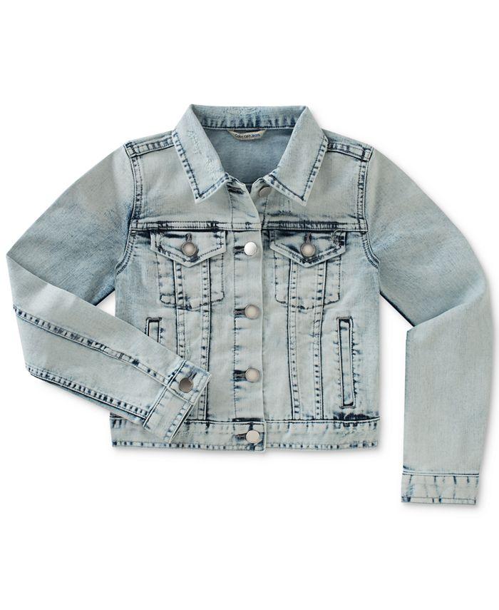 Calvin Klein - Big Girls Bleached Denim Jacket