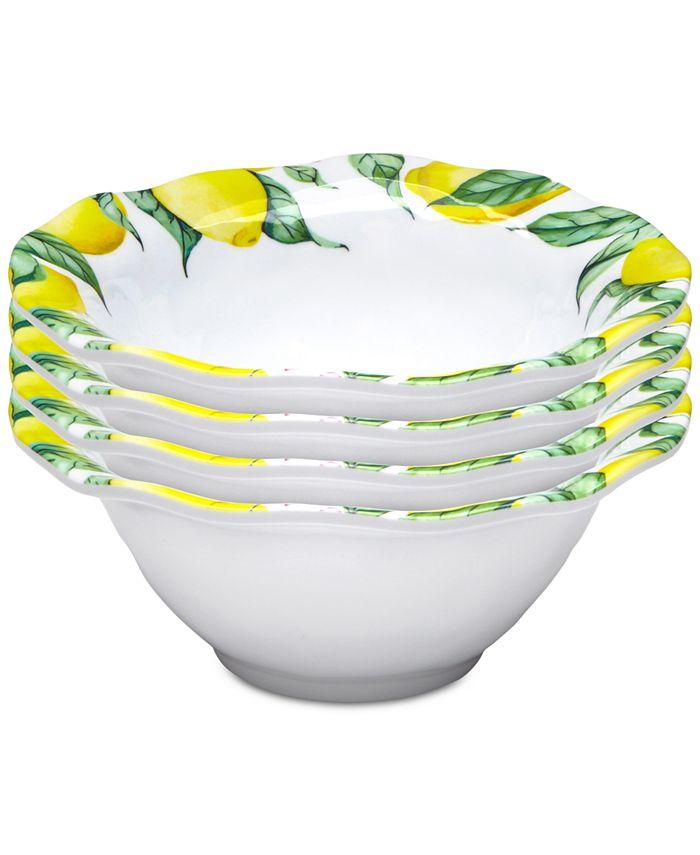 "Q Squared - Limonata 4-Pc. Melamine 6.5"" Cereal Bowl Set"