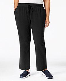 Karen Scott Plus Size Drawstring Waist Soft Pants, Created for Macy's