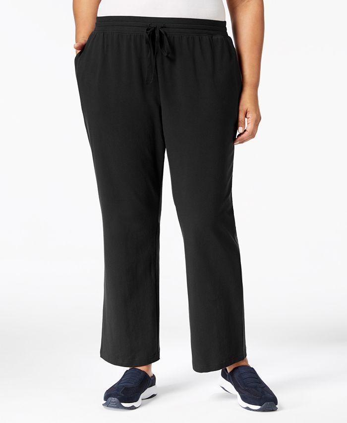 Karen Scott - Plus Size Drawstring Waist Soft Pants