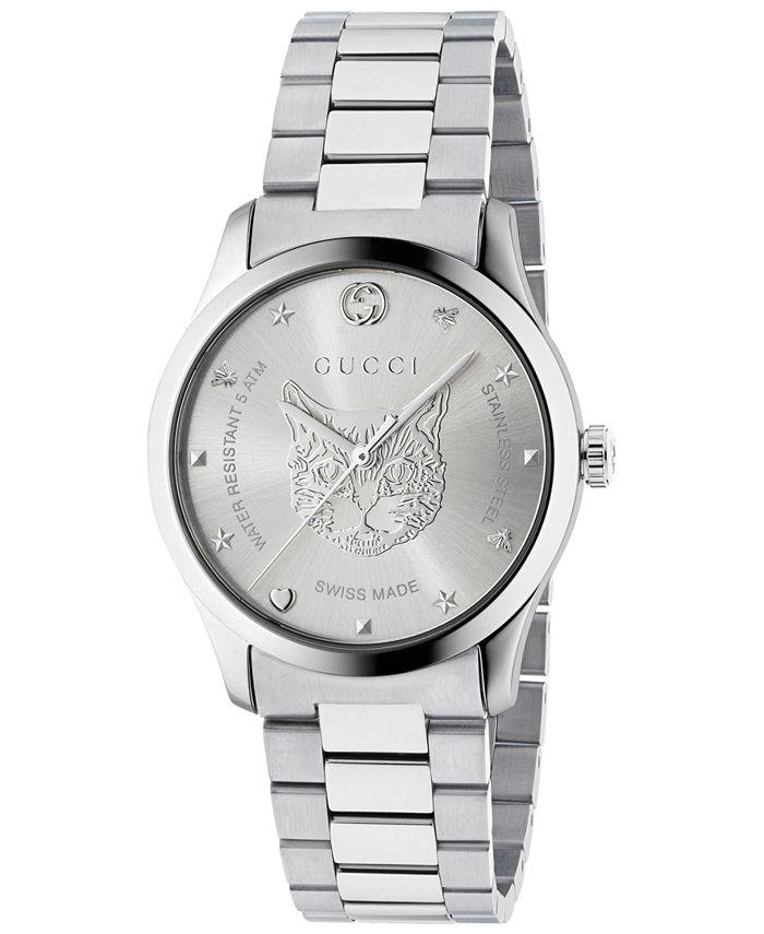 Gucci - Women's Swiss G-Timeless Stainless Steel Bracelet Watch 27mm