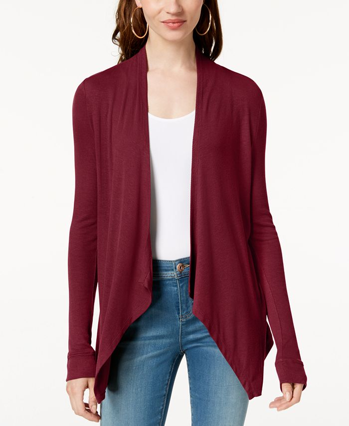 INC International Concepts - Long-Sleeve Open-Front Cardigan