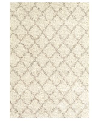 "Prima Shag Temara Lattice 5'3""' x 7'7"" Area Rug"
