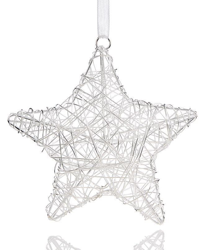 Holiday Lane Snow Daze Wire Star Ornament Created for Macy's