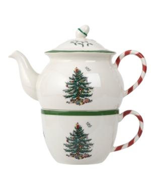 Spode Dinnerware, Christmas Tree Peppermint Tea for One