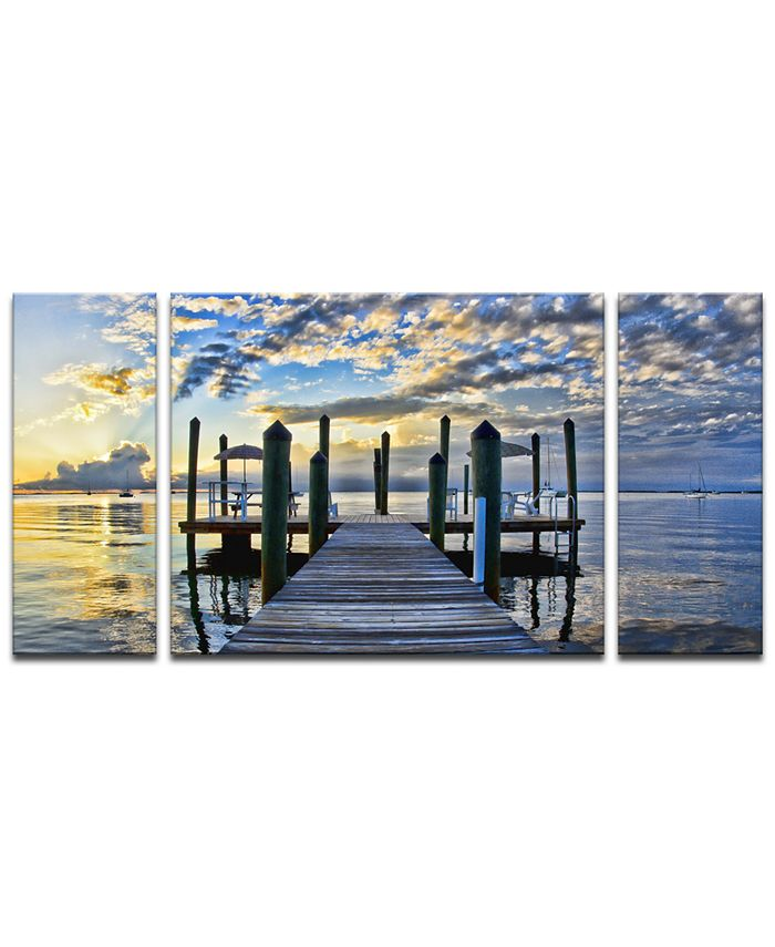 Ready2HangArt - 'Pier Burst' 3-Pc. Canvas Art Print Set