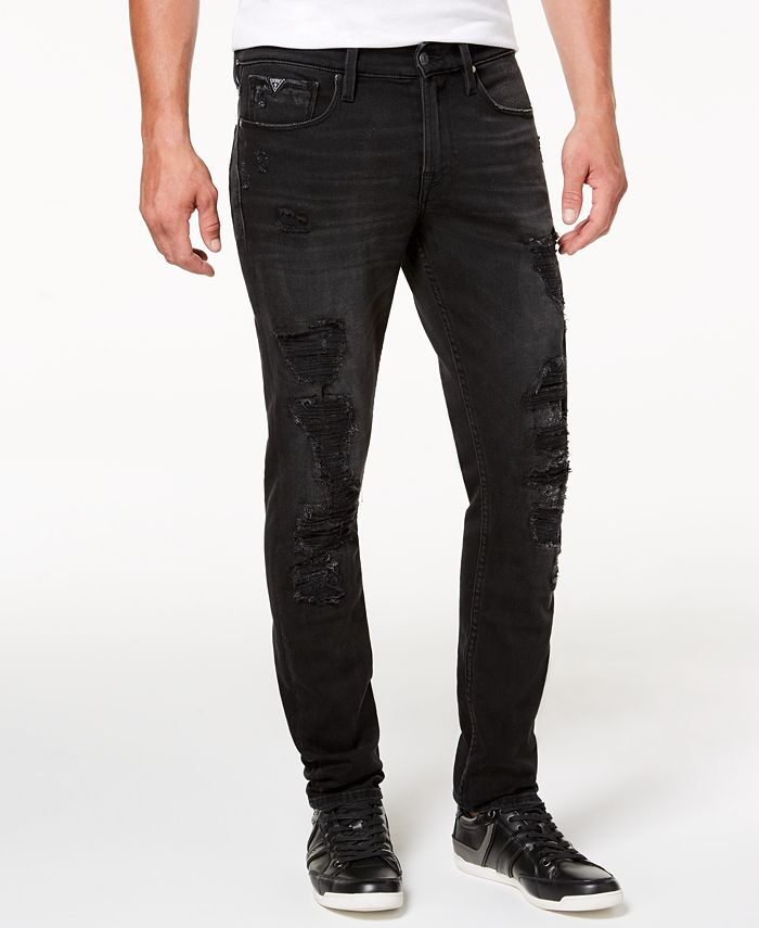 GUESS - Men's Slim-Fit Tapered Jeans