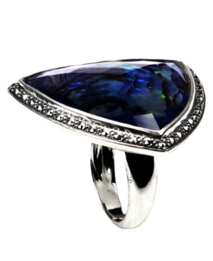 Judith Jack Ring, Blue Abalone Ring