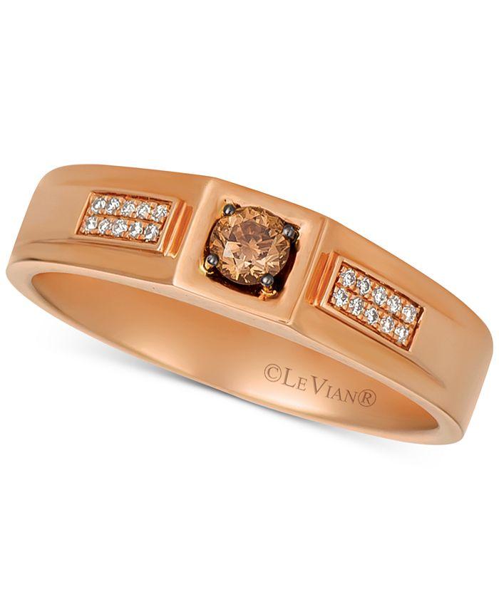 Le Vian - Men's Diamond Ring (1/4 ct. t.w.) in 14k Rose Gold