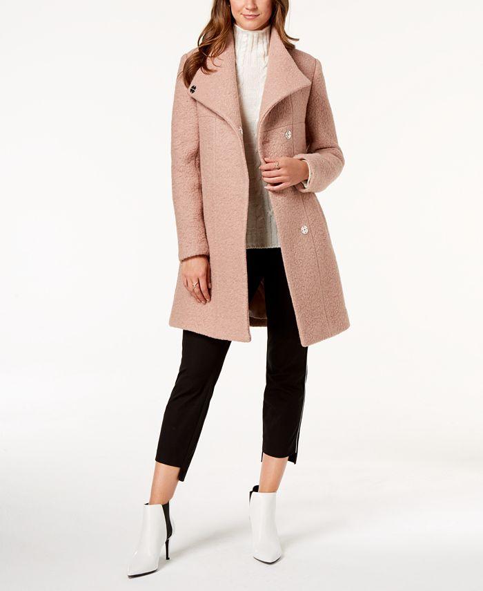 Kenneth Cole - Asymmetrical Bouclé Coat