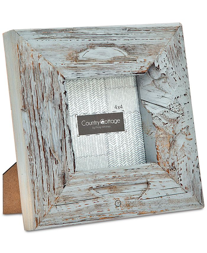 """Philip Whitney - 4"""" x 4"""" Gray Barn Square Picture Frame"""