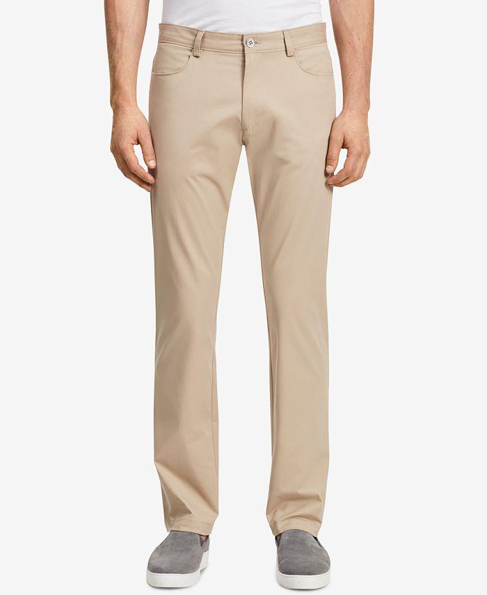 Calvin Klein - Pants, Sateen Slim Fit Pants