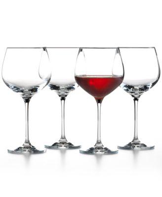 The Cellar Glassware, Set of 4 Premium Merlot Wine Glasses