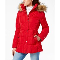 Tommy Hilfiger Faux-Fur Trim Hooded Puffer Coat (various colors/sizes)