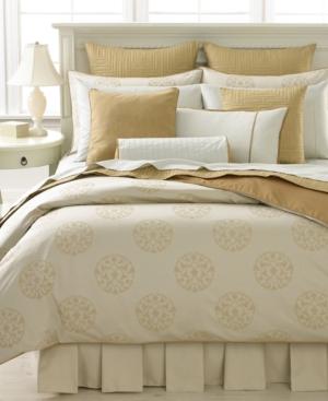 Barbara Barry Bedding, Floating Lotus Queen Flat Sheet Bedding
