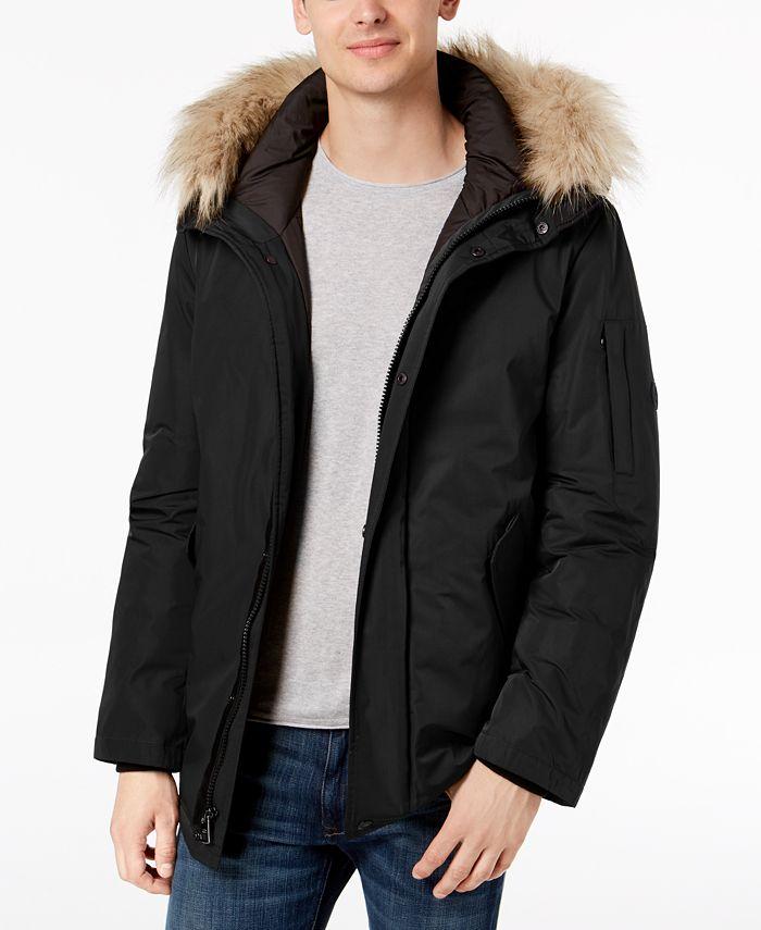 Calvin Klein - Men's Snorkel Jacket with Faux-Fur Trim