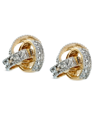 Victoria Townsend 18k Gold over Sterling Silver Earrings, Diamond Accent Love Knot Stud Earrings
