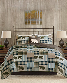 Woolrich Twin Falls Reversible 4-Pc. Oversized King/California King Quilt Set