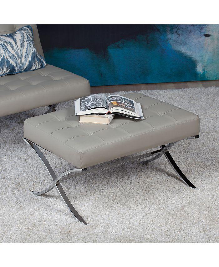 Studio Designs Home - Atrium Bonded Leather Ottoman