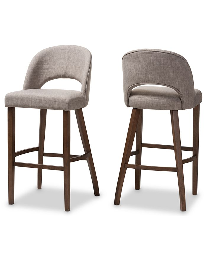 Furniture - Pryston Bar Stool (Set Of 2), Quick Ship