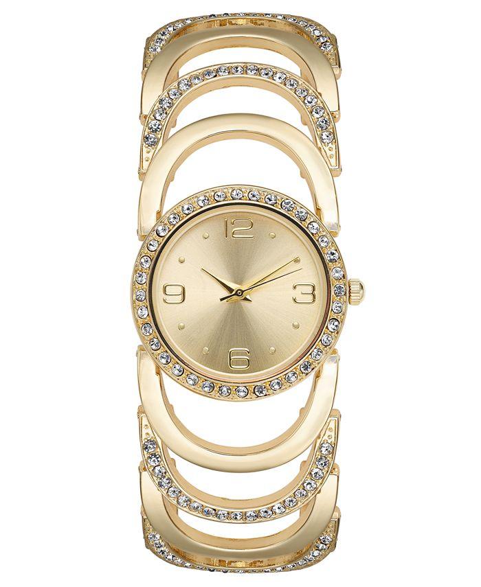 Charter Club - Women's Crystal Accent Bracelet Watch 34mm