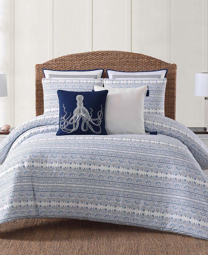 Oceanfront Resort - Reef Point Printed 3 Piece King  Comforter Set