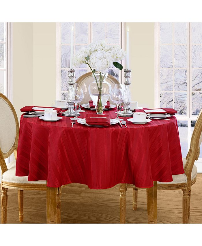Elrene - Denley Stripe Tablecloth Collection