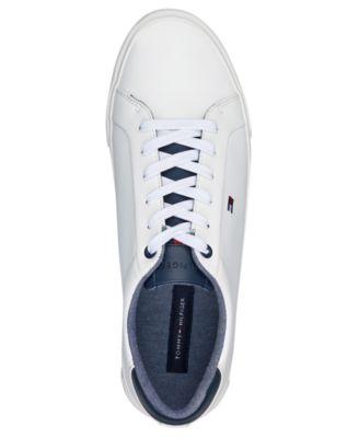 tommy hilfiger unlined low cut leather sneaker