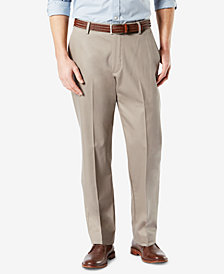 Dockers Men's Signature Lux Cotton Classic Fit Creased Stretch Khaki Pants