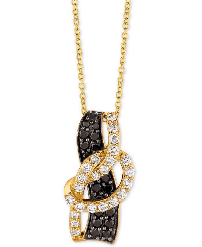 "Le Vian - Diamond Loop 18"" Pendant Necklace (1 ct. t.w.) in 14k Gold"