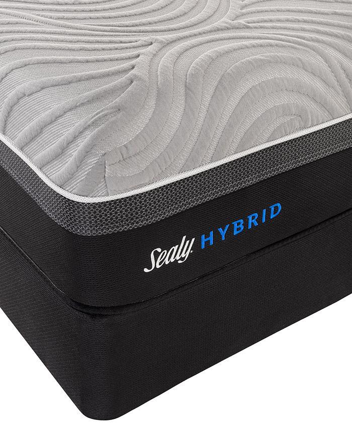 "Sealy - Kelburn II 13"" Hybrid Cushion Firm Mattress Set- King"