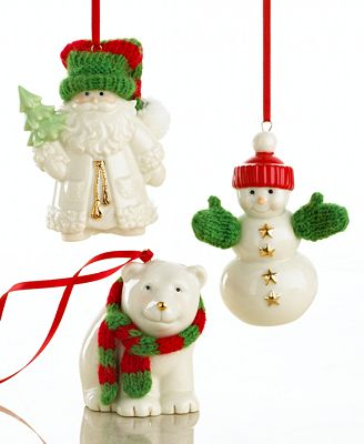 Lenox Christmas Ornaments, Set of 3 Warmest Wishes | Macy's