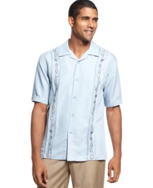 Cubavera Shirt, Short Sleeve Billiards Novelty Panel Shirt