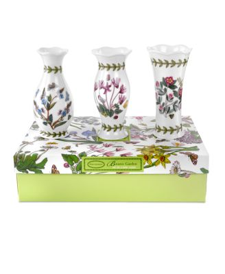 Portmeirion Vases, Set of 3 Botanic...