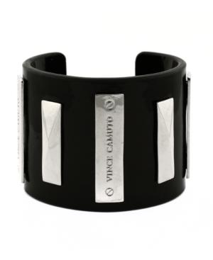 Vince Camuto Bracelet, Black Lucite Cuff Bracelet