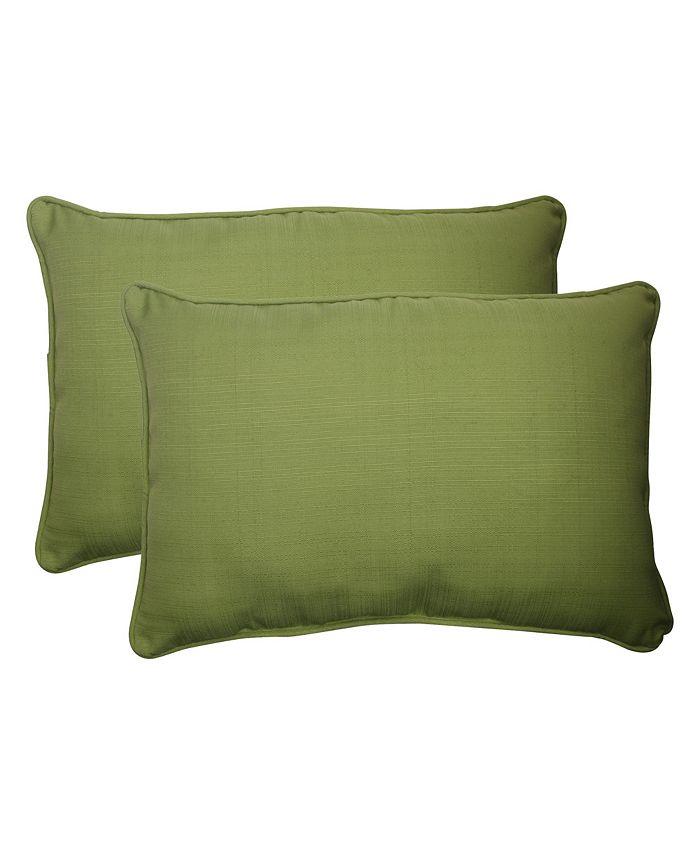 Pillow Perfect - Forsyth Kiwi Over-sized Rectangular Throw Pillow (Set of 2)