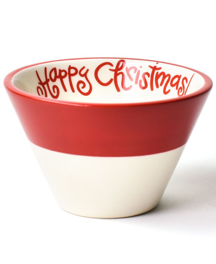 Happy Everything - Happy Christmas Collection White Colorblock Mod Appetizer Bowl
