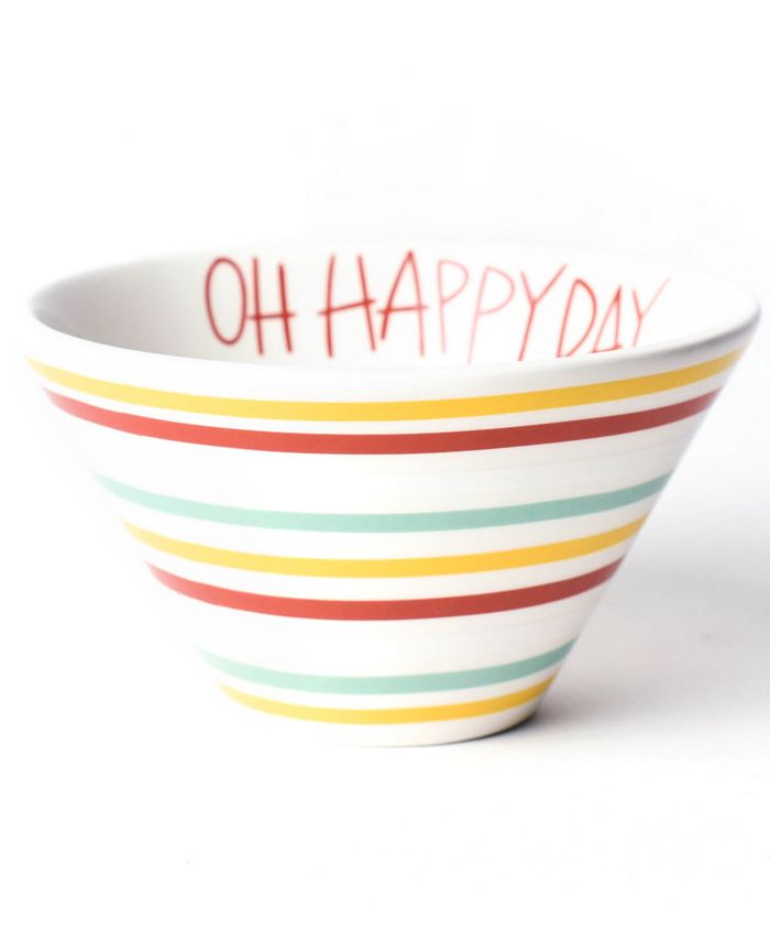 Happy Everything - !™ Collection Multi Bright Stripe Oh Happy Day Mod Small Bowl