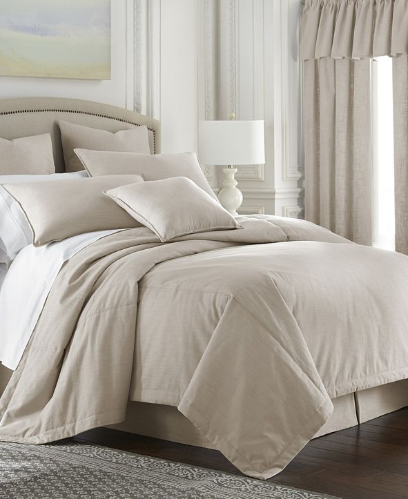 Colcha Linens Cambric Natural Comforter-Twin