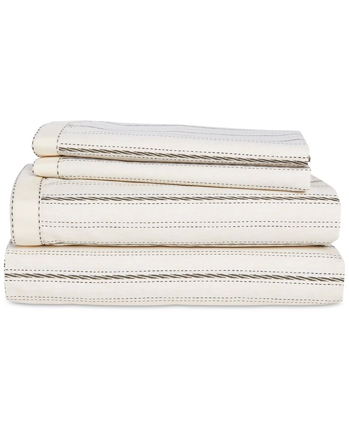 Lauren Ralph Lauren - Taylor Cotton 200-Thread Count 4-Pc. Stripe Queen Sheet Set